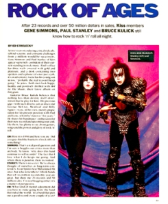 KISS in Guitar World