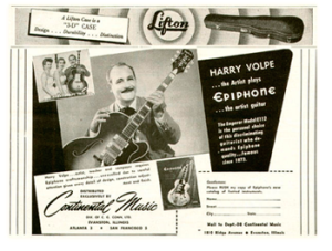 Harry Volpe Epiphone Ad