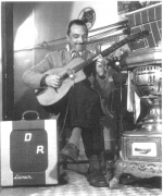 Django with his amplified Selmer guitar